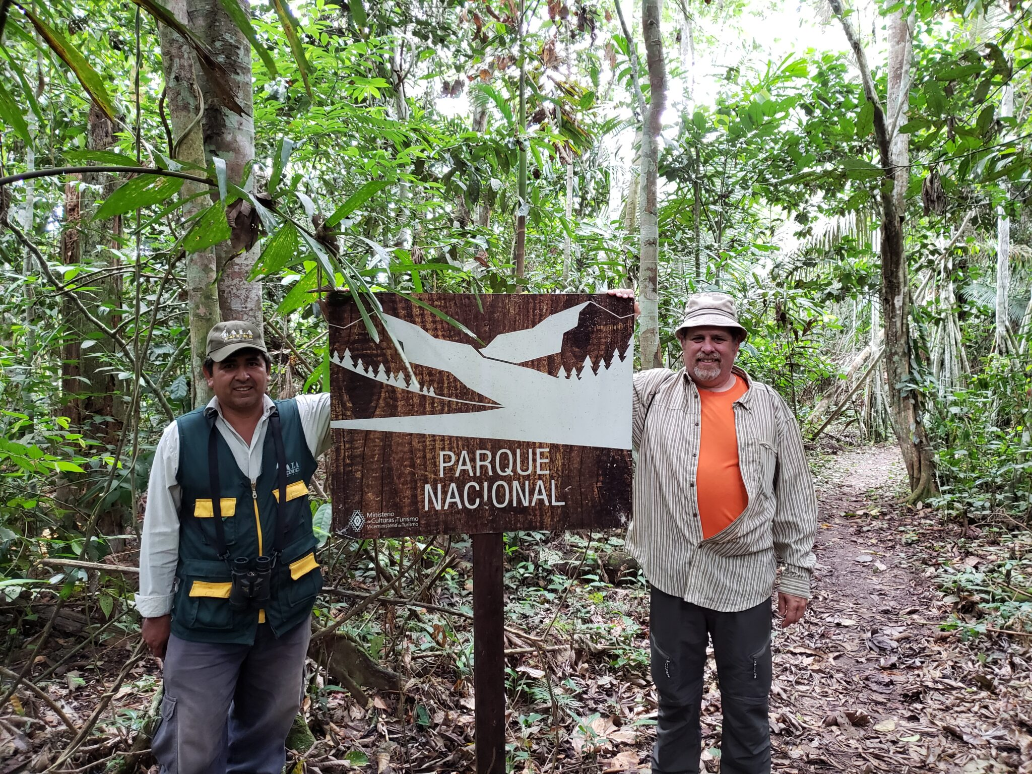 Amazon jungle Parque Nacional entrance sign