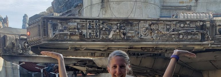 Holding up the Millennium Falcon