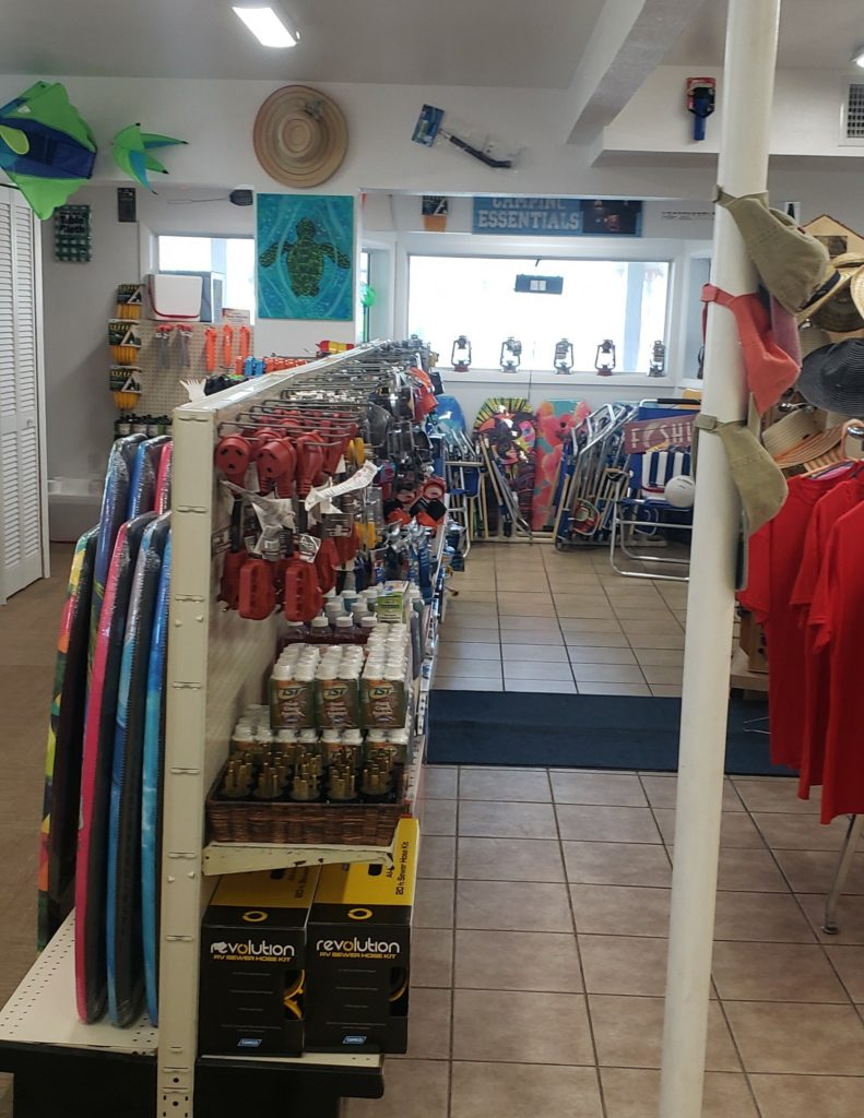Beverly Beach Camptown store for all your camping needs