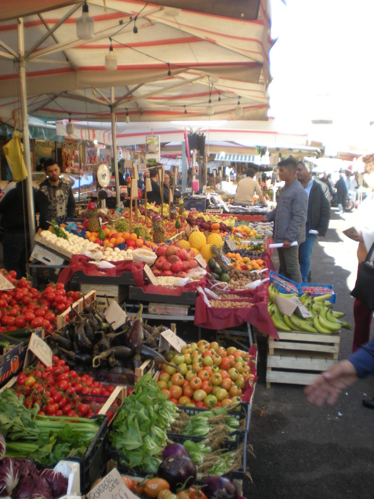 Palermo Market in Sicily that you can shop at during a cruise one day in Palermo Sicily