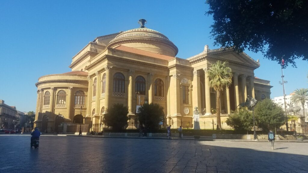 front view of Massimo Theater - spending one day in Palermo