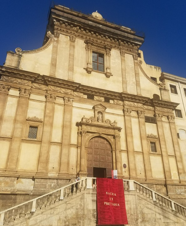 front view of Seeing Santa Caterina in one day in Palermo