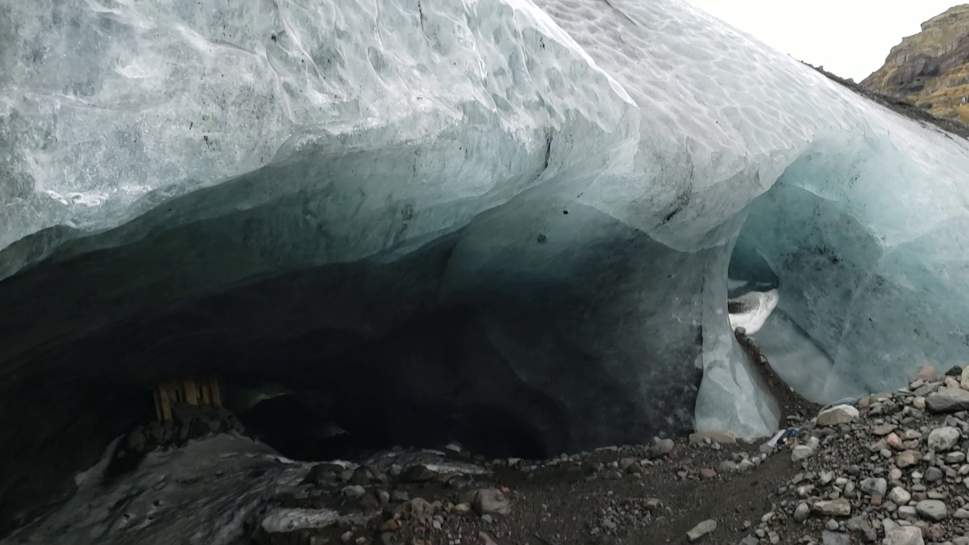 view of ice cave in iceland
