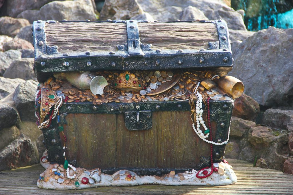 treasure chest filled with gold