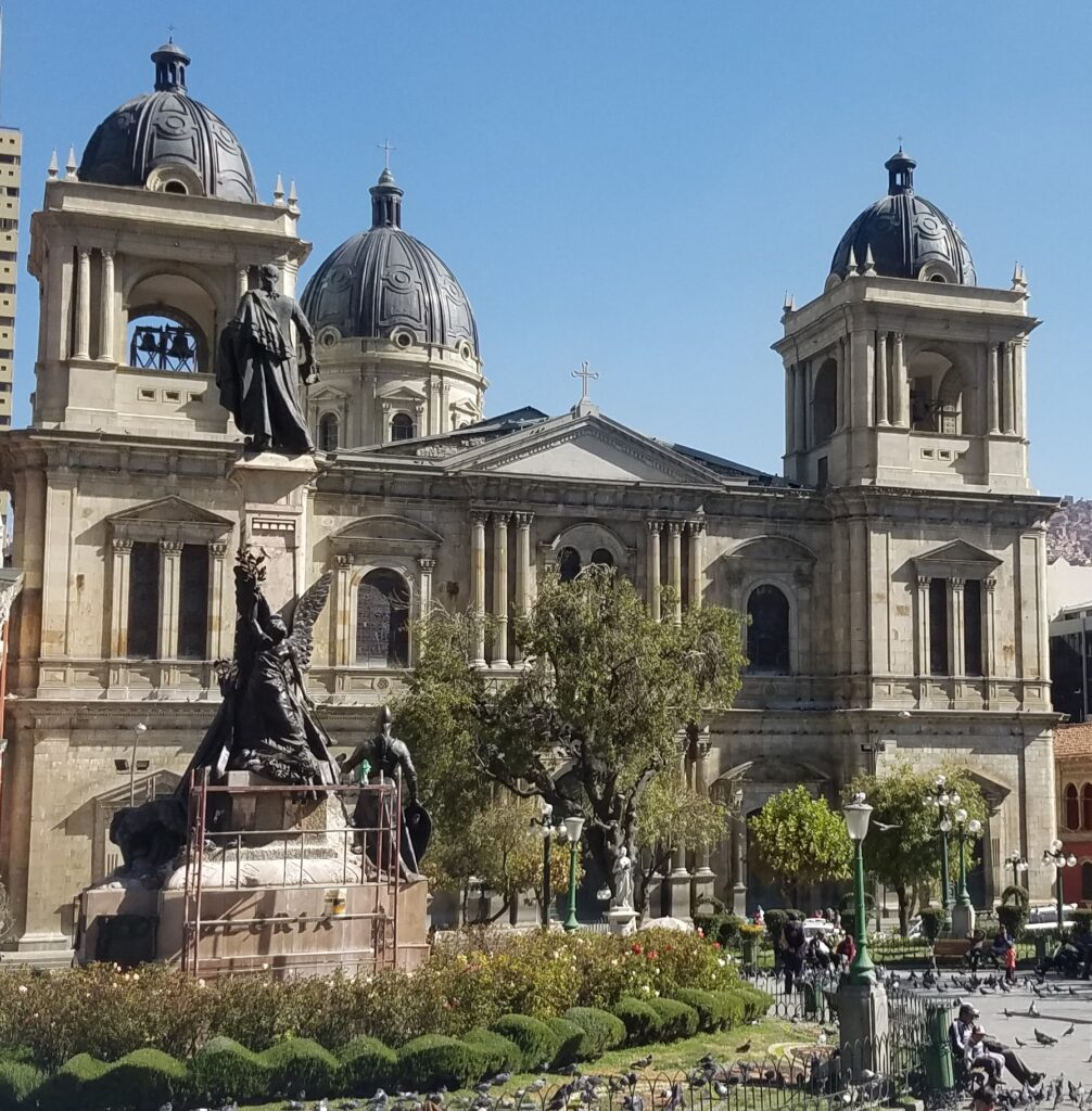 view of la paz cathedral