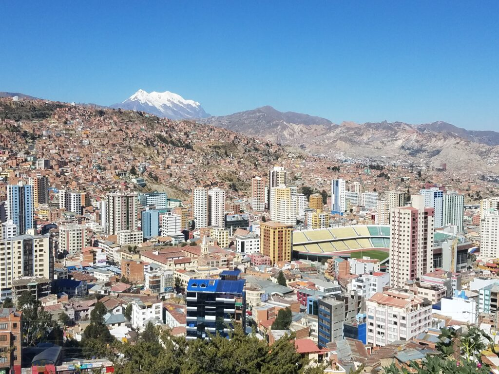 beautiful view of the city of la paz from a high viewpoint