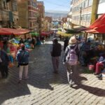 walking along the La Paz markets