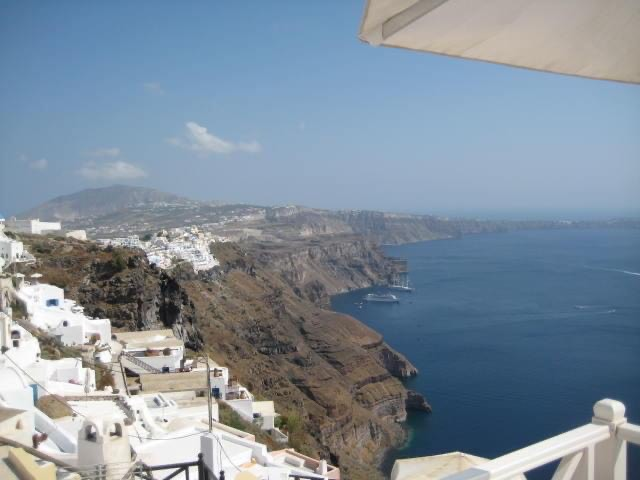 beautiful view of Greece on a birthday trip
