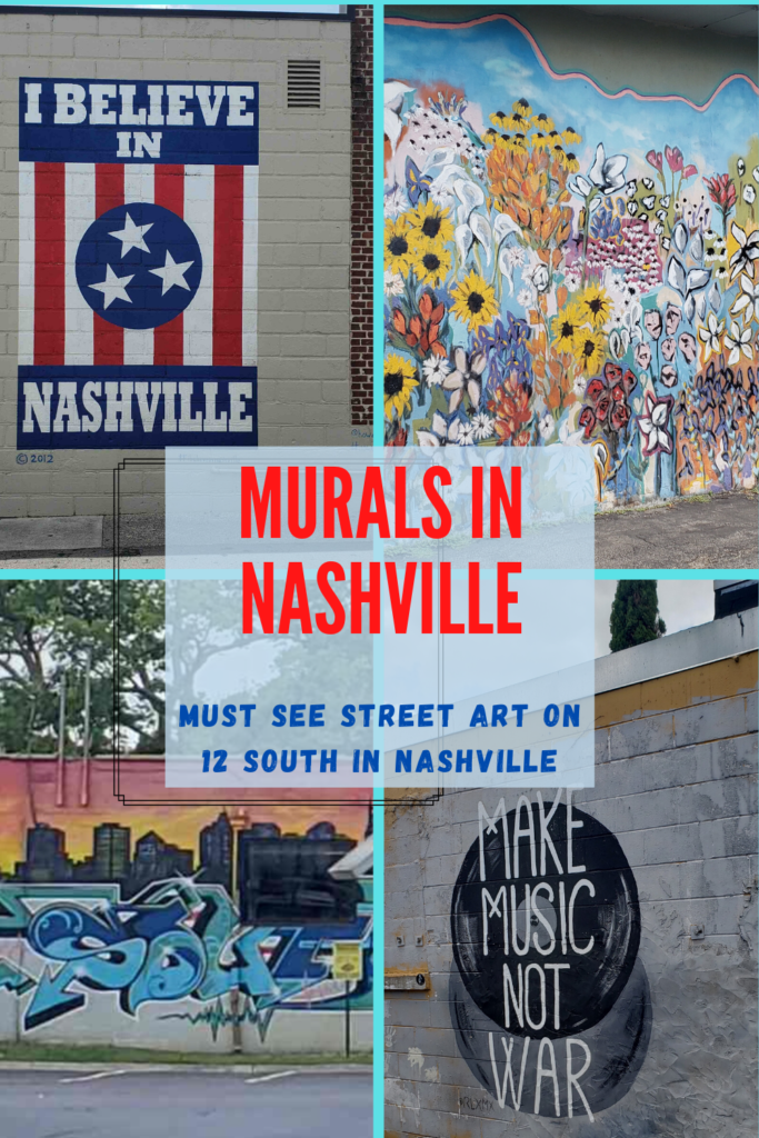 Best wall art & street art in Nashville is on 12 South. Find these awesome wall murals to photograph some memories of your trip to Nashville: Nashville Looks Good on You, Looking Pretty Music City, I Believe in Nashville mural, Make Music not War Mural, Draper James Wall. Take a walking tour of wall murals in Nashville TN / Top murals / best wall art / Nashville wall murals map / Nashville wall art / Nashville street art / things to do in Nashville / Nashville tour / Nashville wall murals TN USA