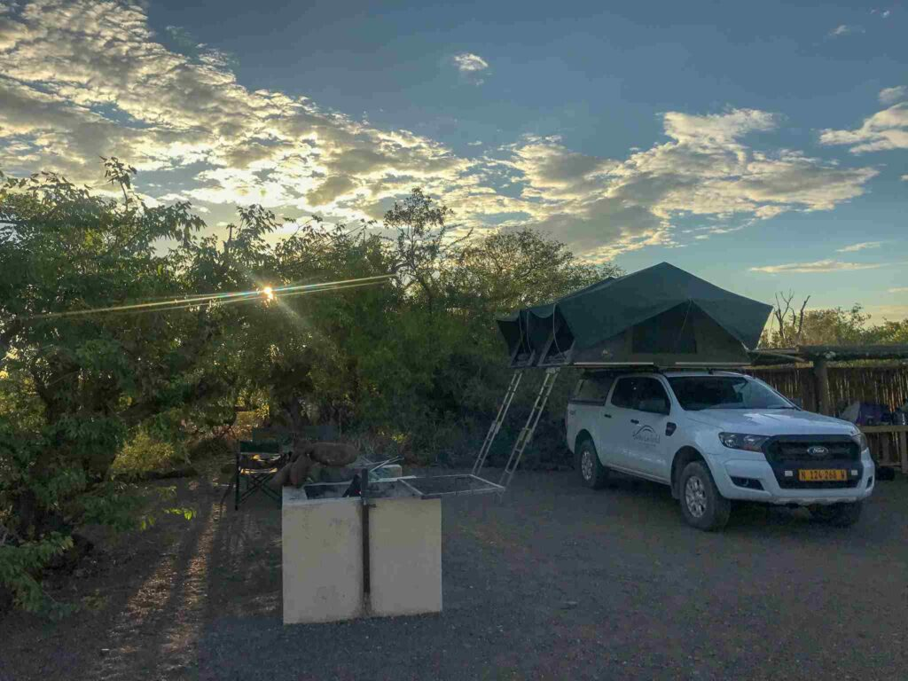 camping set up in Africa