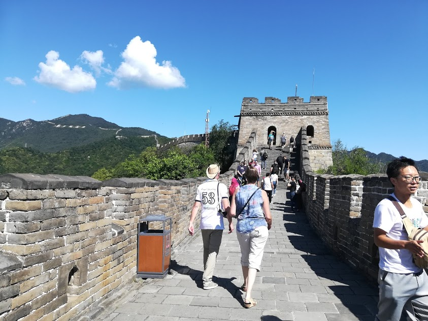 walking on the great wall of china to celebrate 50th birthday