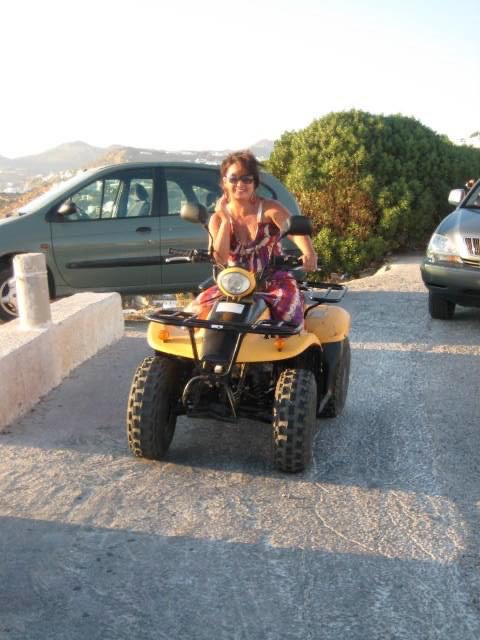 riding a 4x4 in Greece