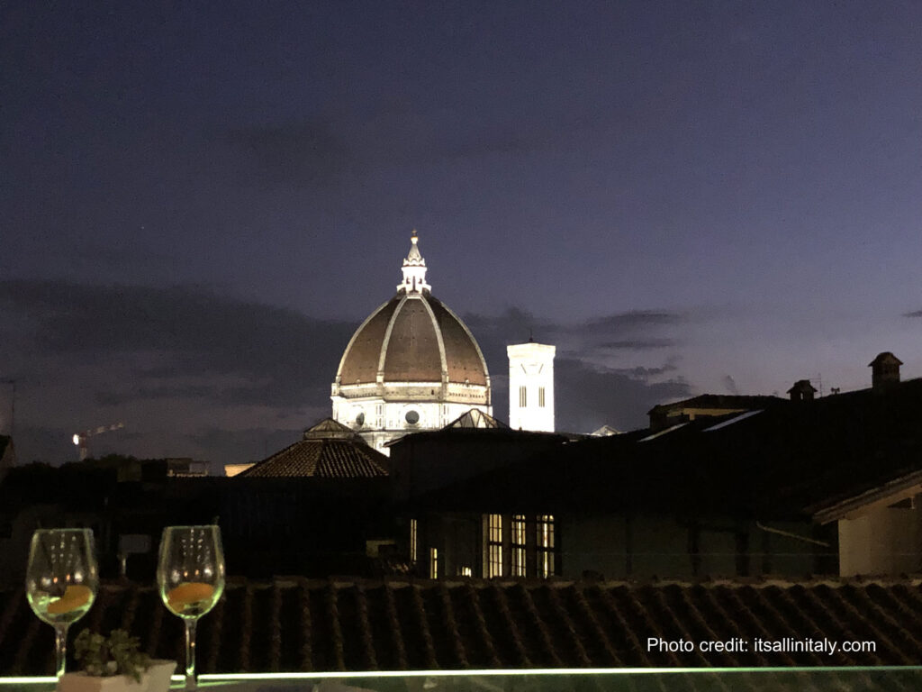 nightime view of florence dome