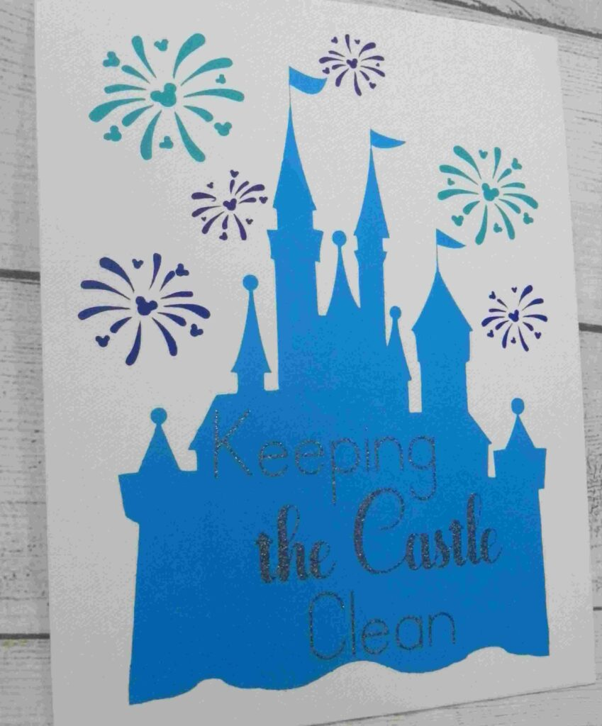 Sanitizing Station Castle Sign - to make your home feel like disney