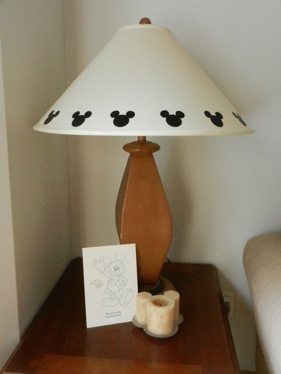 hidden Mickeys on lamp for Disney at Home