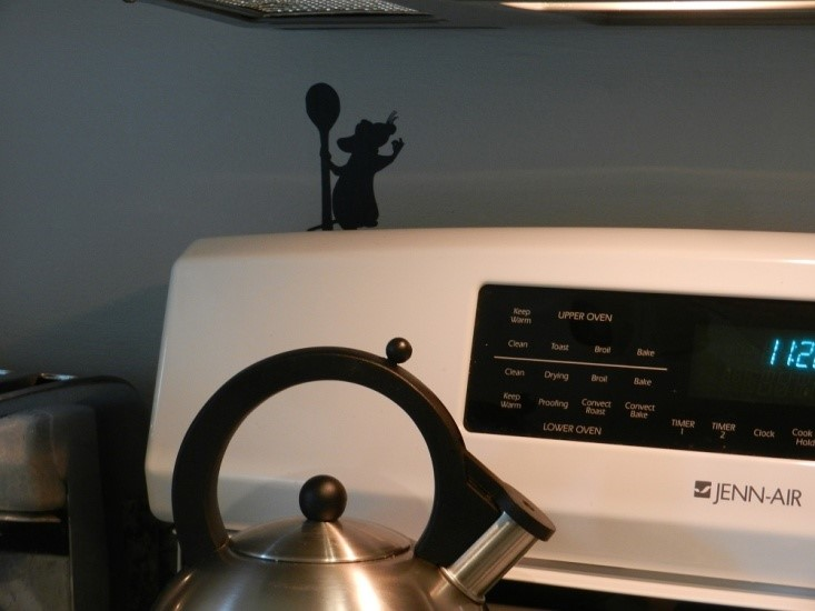 Remy decal in your kitchen to make it feel like disney at home
