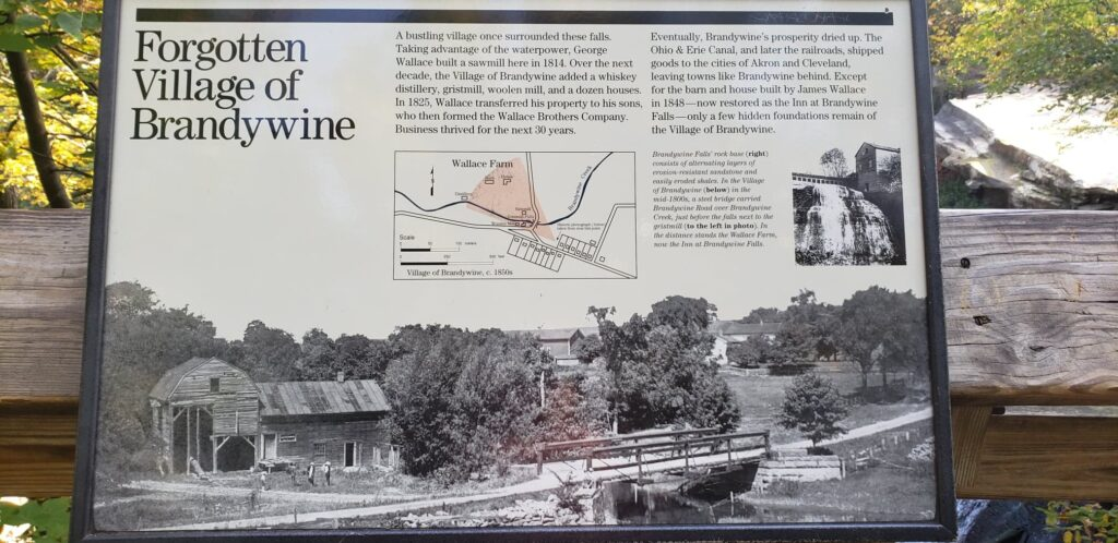 information sign for the forgotten village of Brandywine