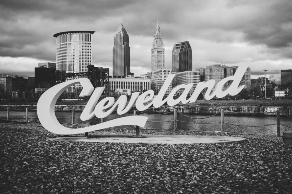 Cleveland Sign and Downtown Cleveland