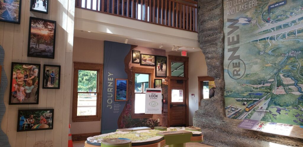 exhibits Inside the Visitors Center at Cuyahoga Valley National Park