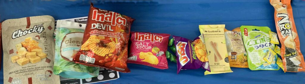 Lineup of Best Snack from Thailand from Universal Yums