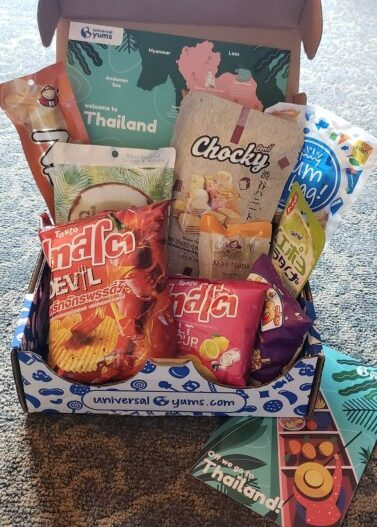 box of chips and snacks