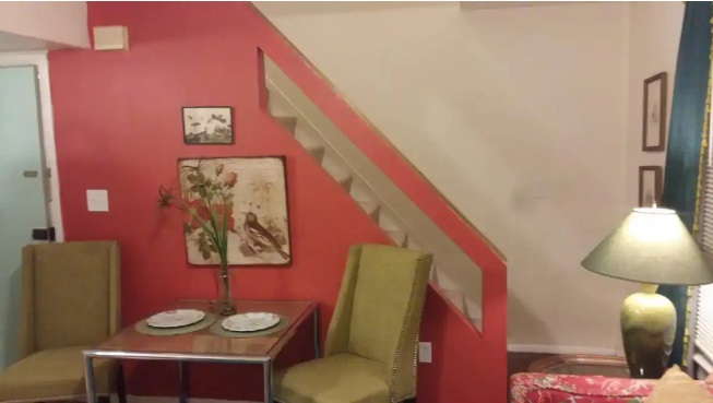 stairway in airbnb Cleveland 5