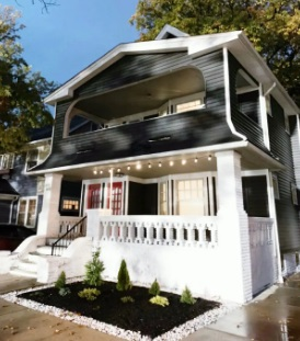 front view of airbnb cleveland house 9