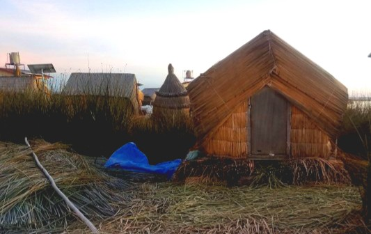 tinyhut on uros the floating island in peru