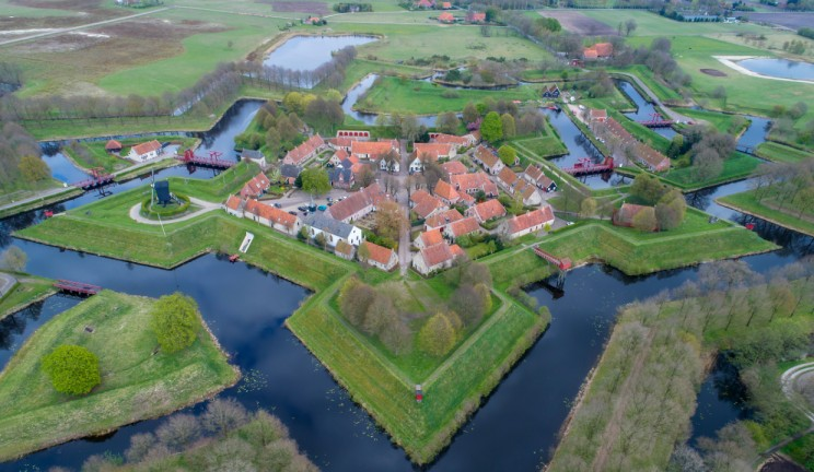 aerial view of netherlands city