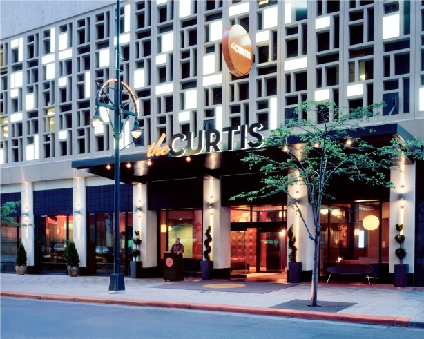 Exterior of Curtis Hotel in Denver