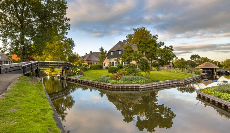 cute holland town on the water