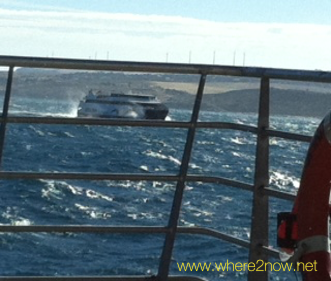 view of water from the kangaroo island ferry
