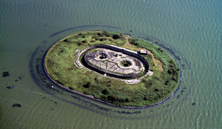 aerial view of pampus in the netherlands