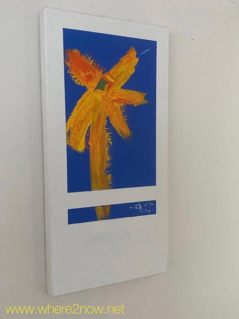 painting of a flower at a studio on KAngaroo Island