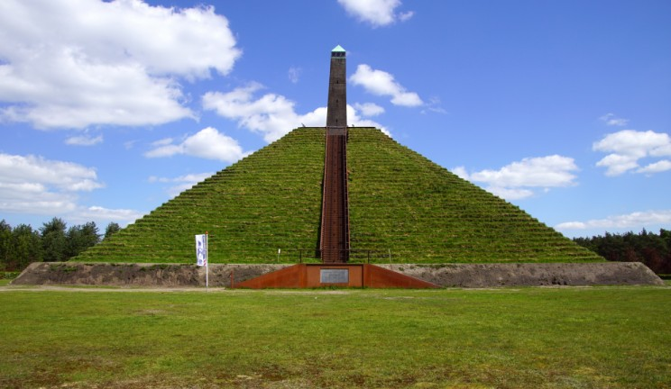 pyramid covered in grass