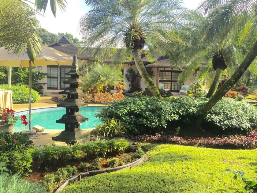 Balinese Flower gardens at a rental house in trinidad and tobago