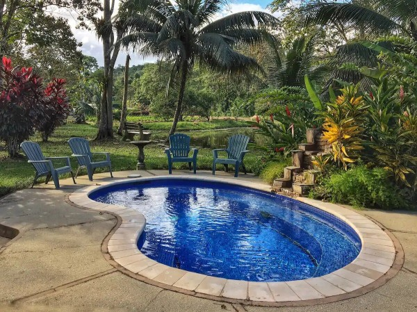pool view at cottage in trinidad and tobago