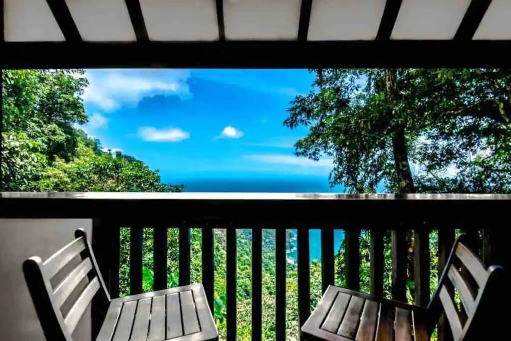 view from cabin in Trinidad and Tobago