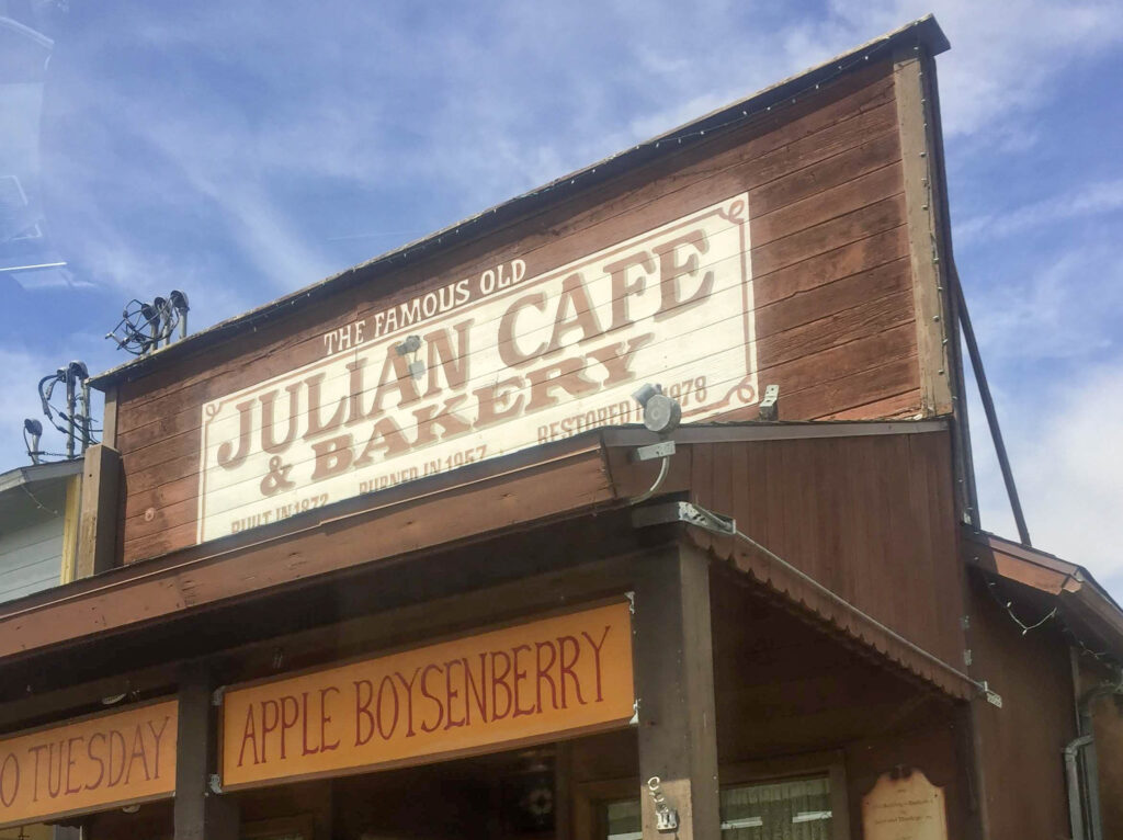 Julian cafe and bakery - the first stop on your relaxing empty nest vacation
