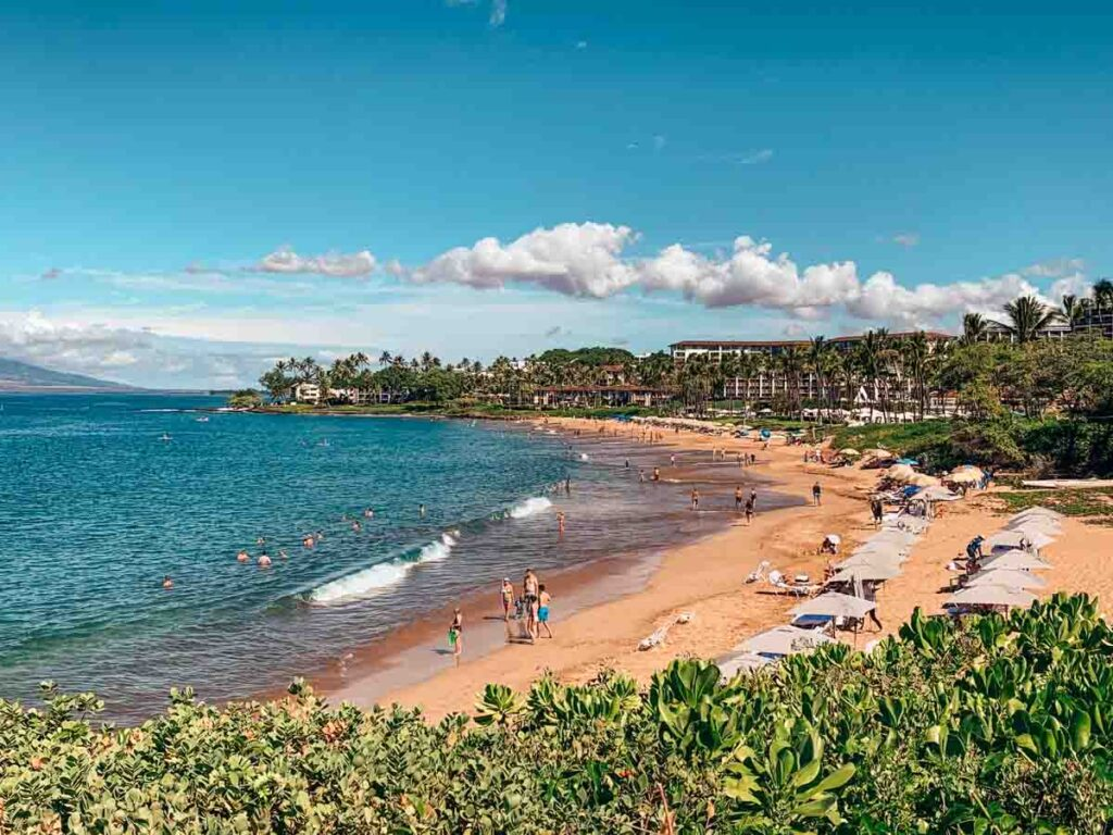 relaxing on the beach in Maui for an empty nest vacation