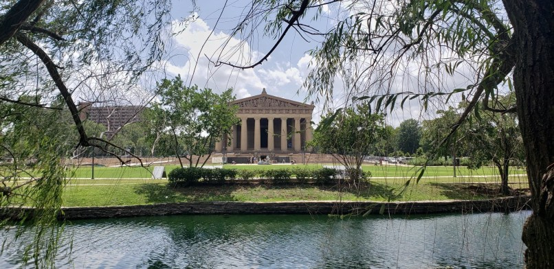 Greek Revival architecture at the Parthenon at Centennial Park in Nashville