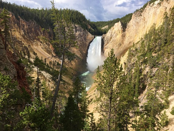 Relaxing US Vacation Ideas for Empty Nesters 4 Yellowstone Falls at Yellowstone National Park as a US vacation idea for empty nesters