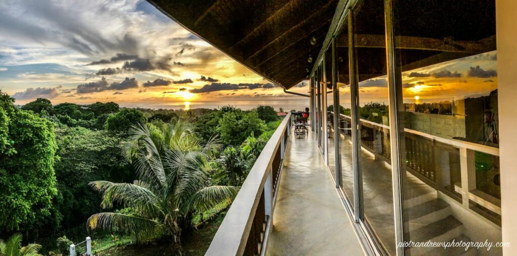 overlooking the canopy from the balcony of firefly treetop villa- Tobago apartment for rent