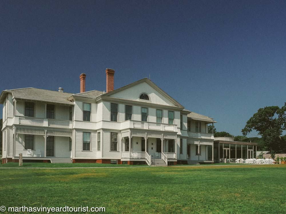 front view of martha's vineyard museum on an empty nest trip to Massachusetts