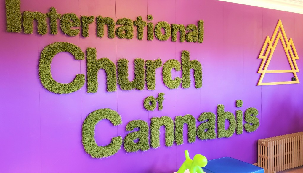 Entrance of International Church of Cannibis