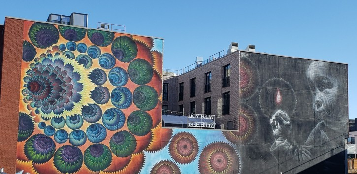 artwork on the side of the building- seen during on 1 day in Denver itinerary