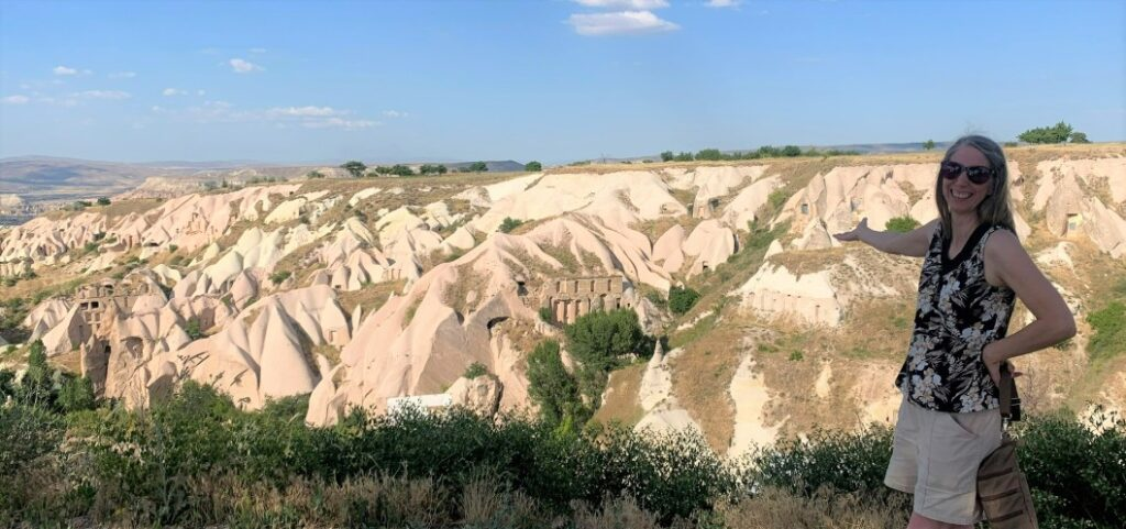 Presenting the beautiful landscape in Cappadocia Turkey after sightseeing on our 2 day itinerary