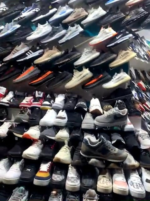 lots of shoes on a wall for sale in turkey for what to buy in turkey