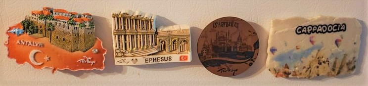 Magnet souvenirs from Turkey