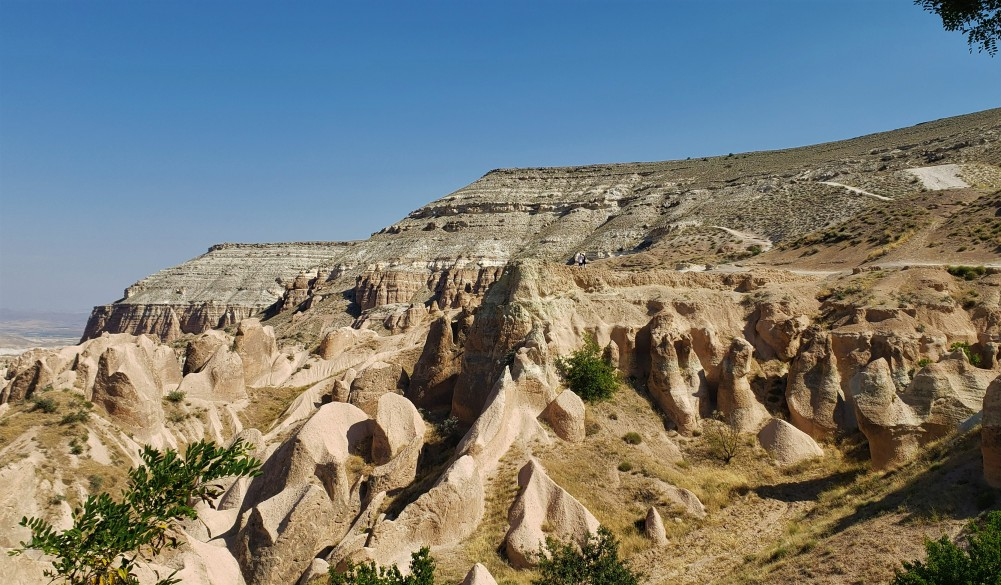 overview of red rocks at Red Valley in Cappadocia o a 2 day trip
